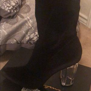 velvet sock boots
